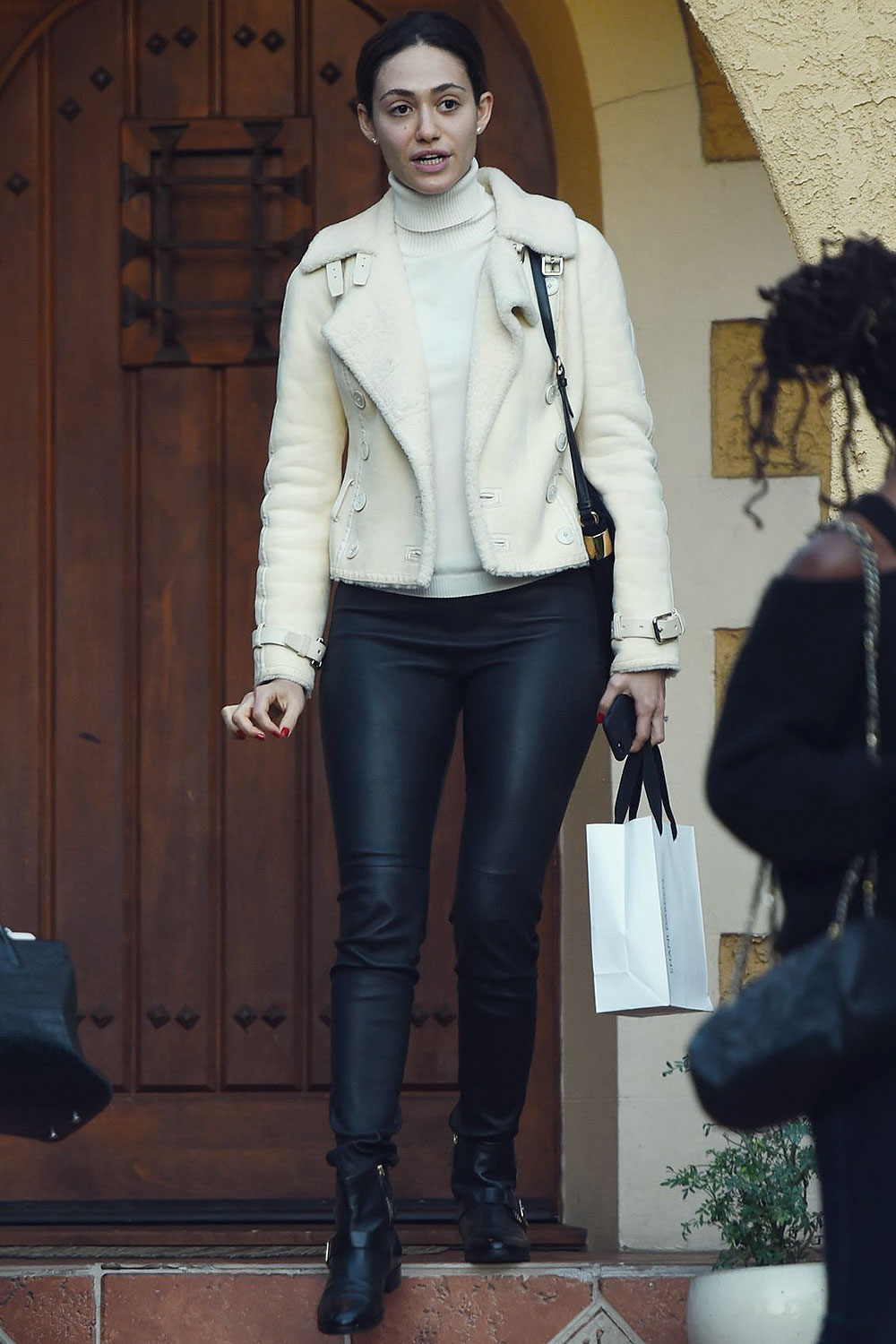Emmy Rossum out in LA