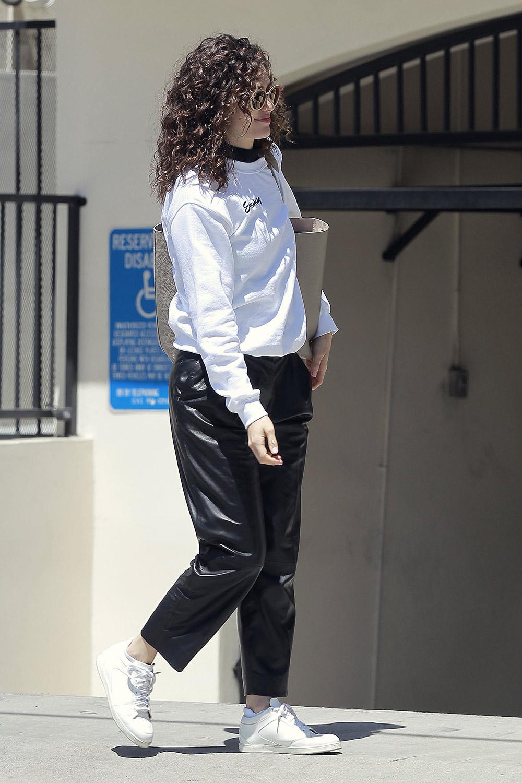 Emmy Rossum running errand in Beverly Hills