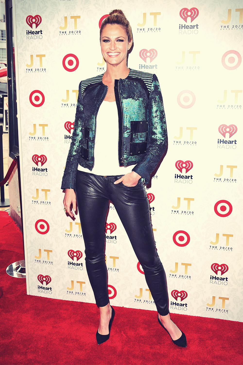 Erin Andrews arrives at the iHeartRadio