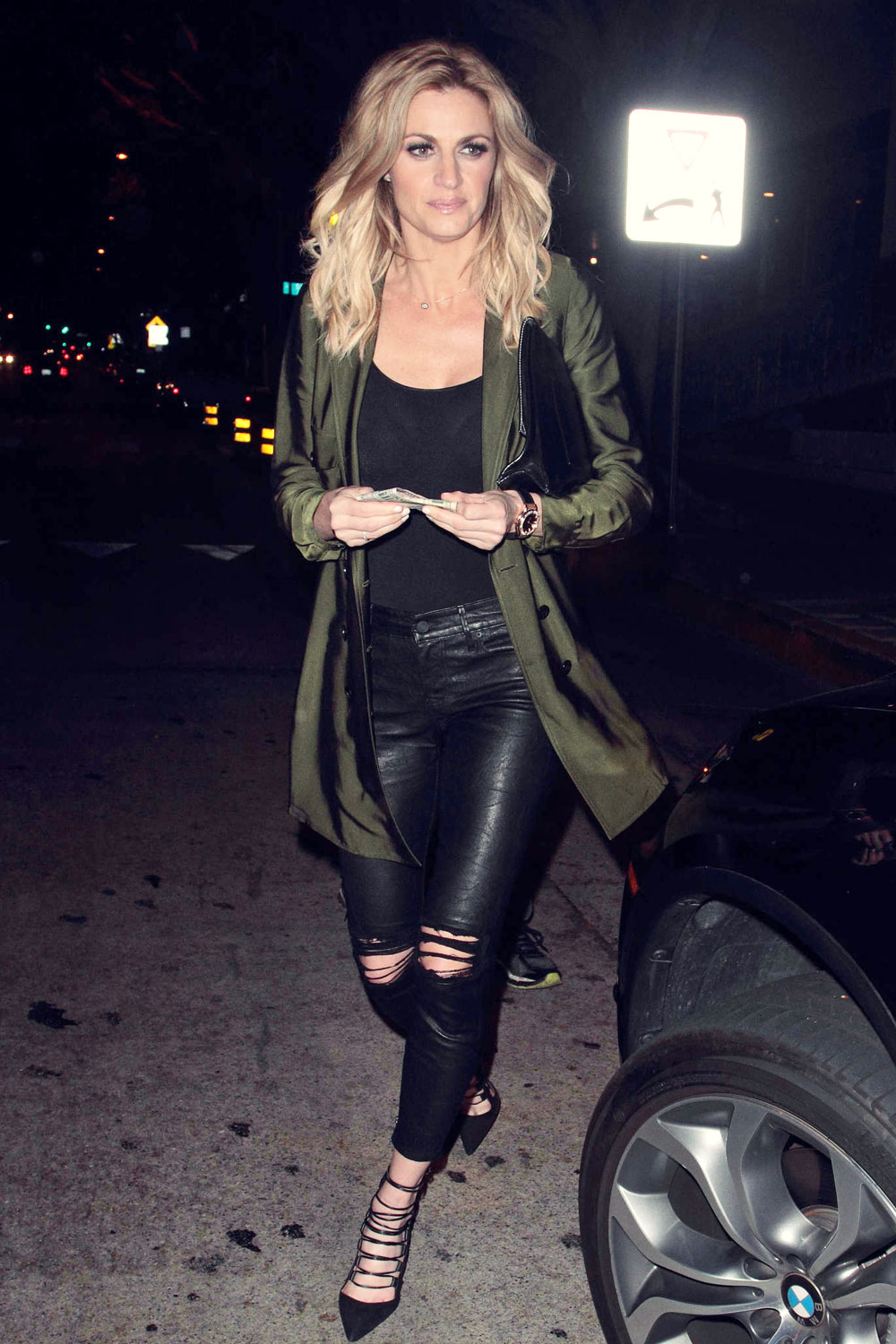 Erin Andrews At Madeo Restaurant Leather Celebrities