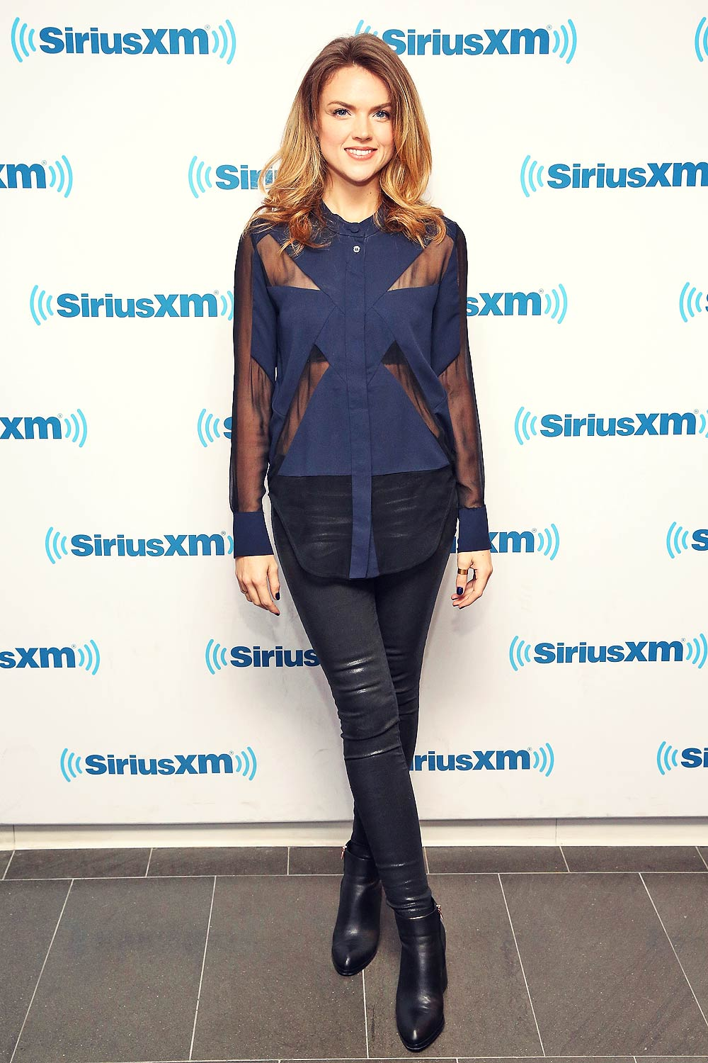 Erin Richards Visits The Siriusxm Studios Leather