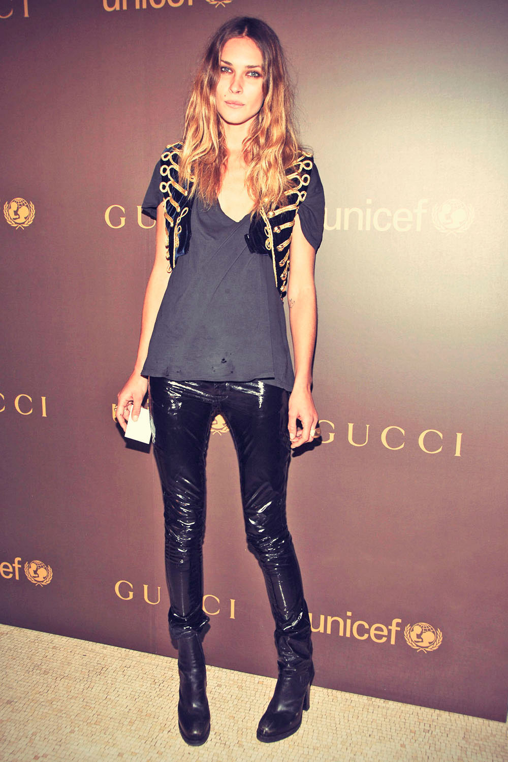 Erin Wasson attends Gucci Campaign to Benefit UNICEF hosts Snowflake Lighting