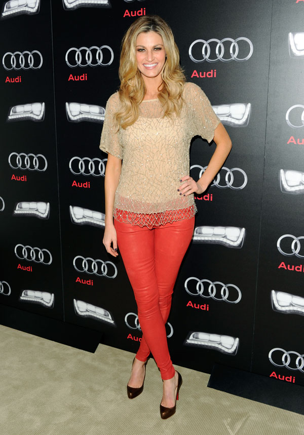 Erin Andrews at Audi Celebrates the Super Bowl