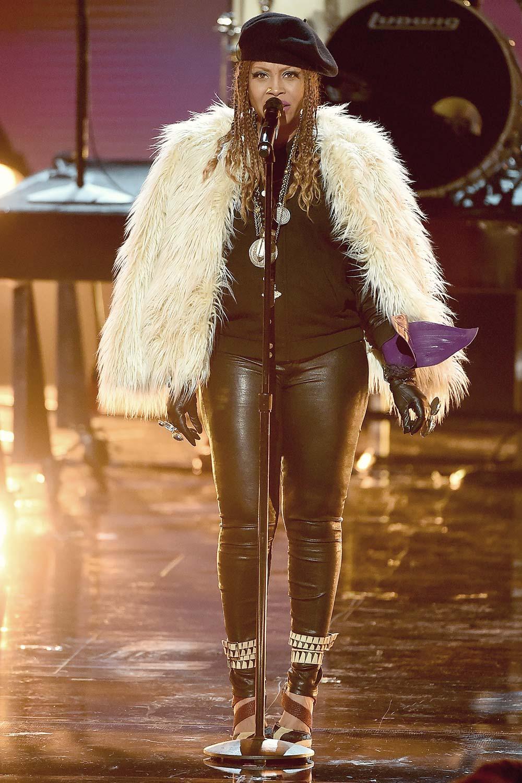 Erykah Badu performs onstage during the 2016 BET Awards