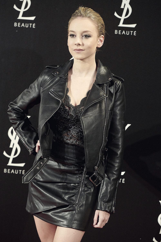 Ester Exposito attends Yves Saint Laurent Beauté The Slim Rouge PurCouture Party