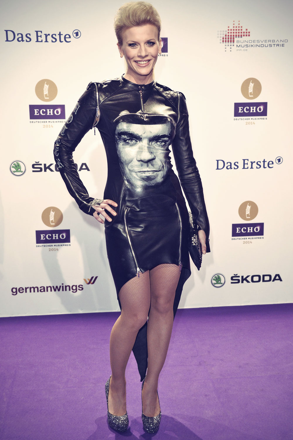 Eva Habermann attends the Echo award 2014
