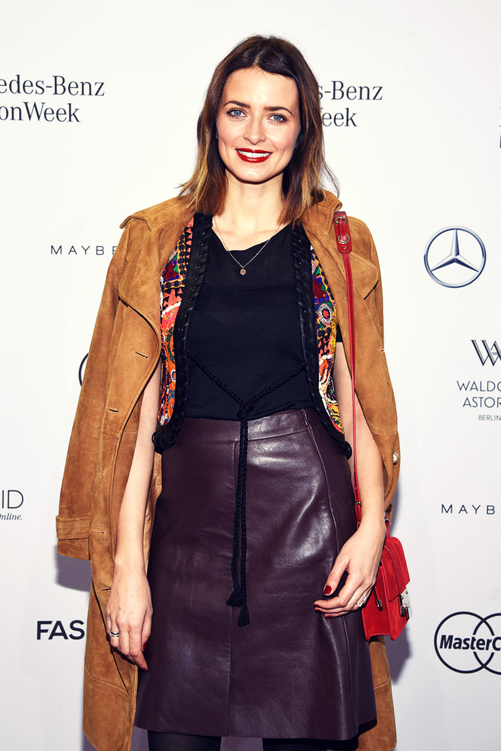 Eva Padberg attends Mercedes Benz Fashion Week Berlin