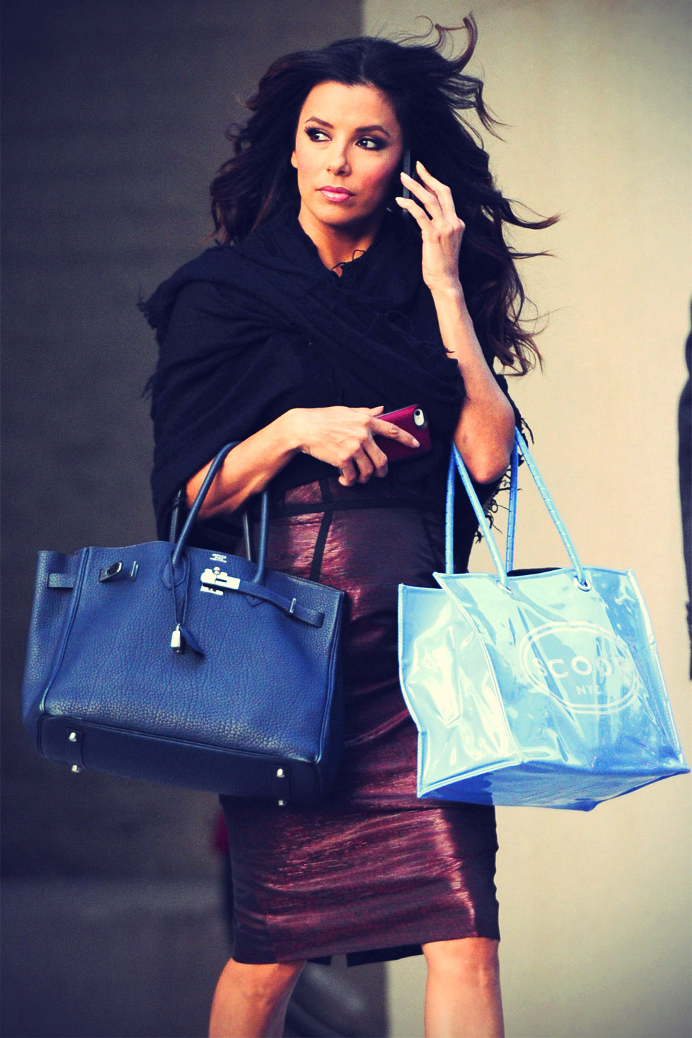Eva Longoria shopping in New York City