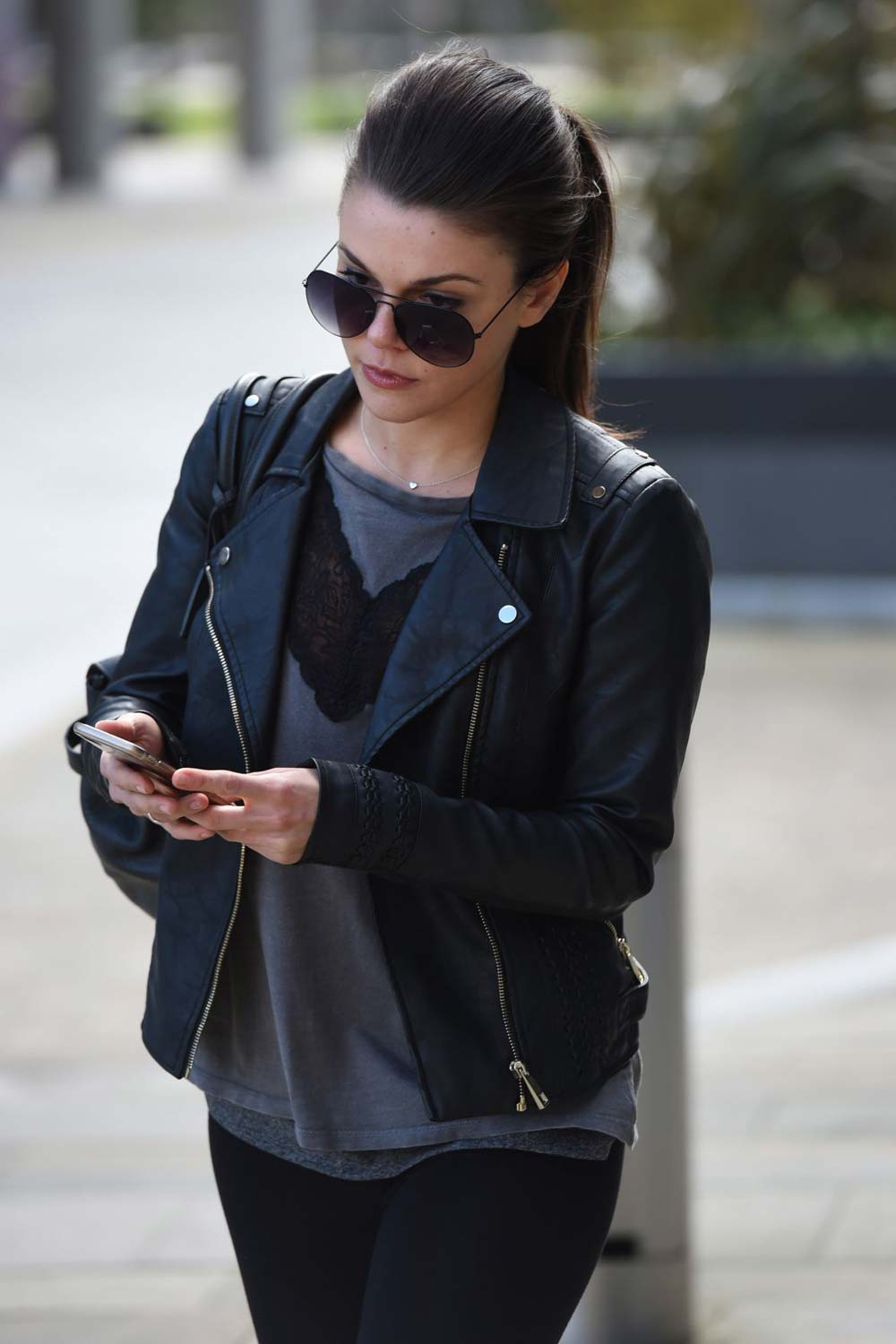 Faye Brookes out and about in Manchester