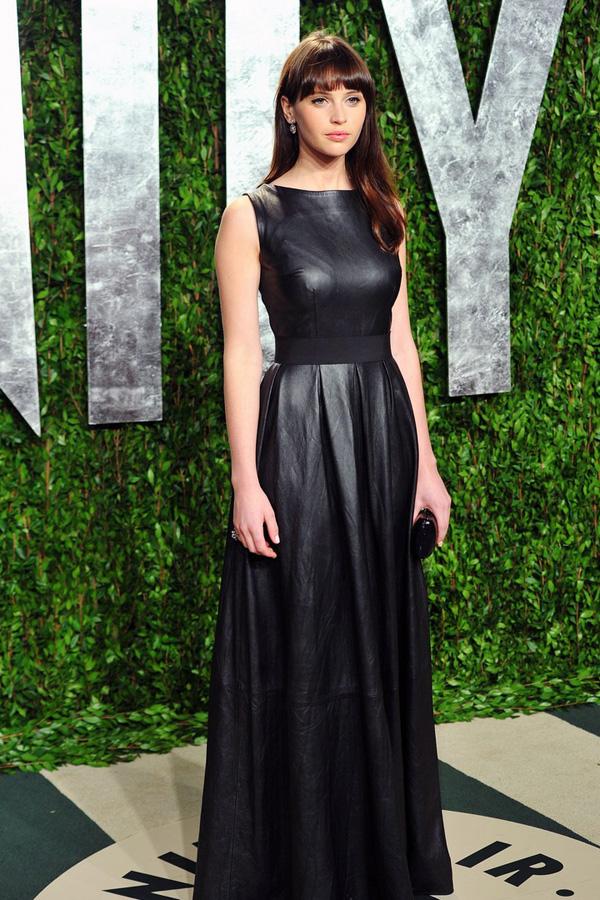 Felicity Jones at Vanity Fair Oscar Party