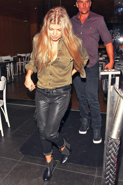 Fergie at Katsuya restaurant in Brentwood
