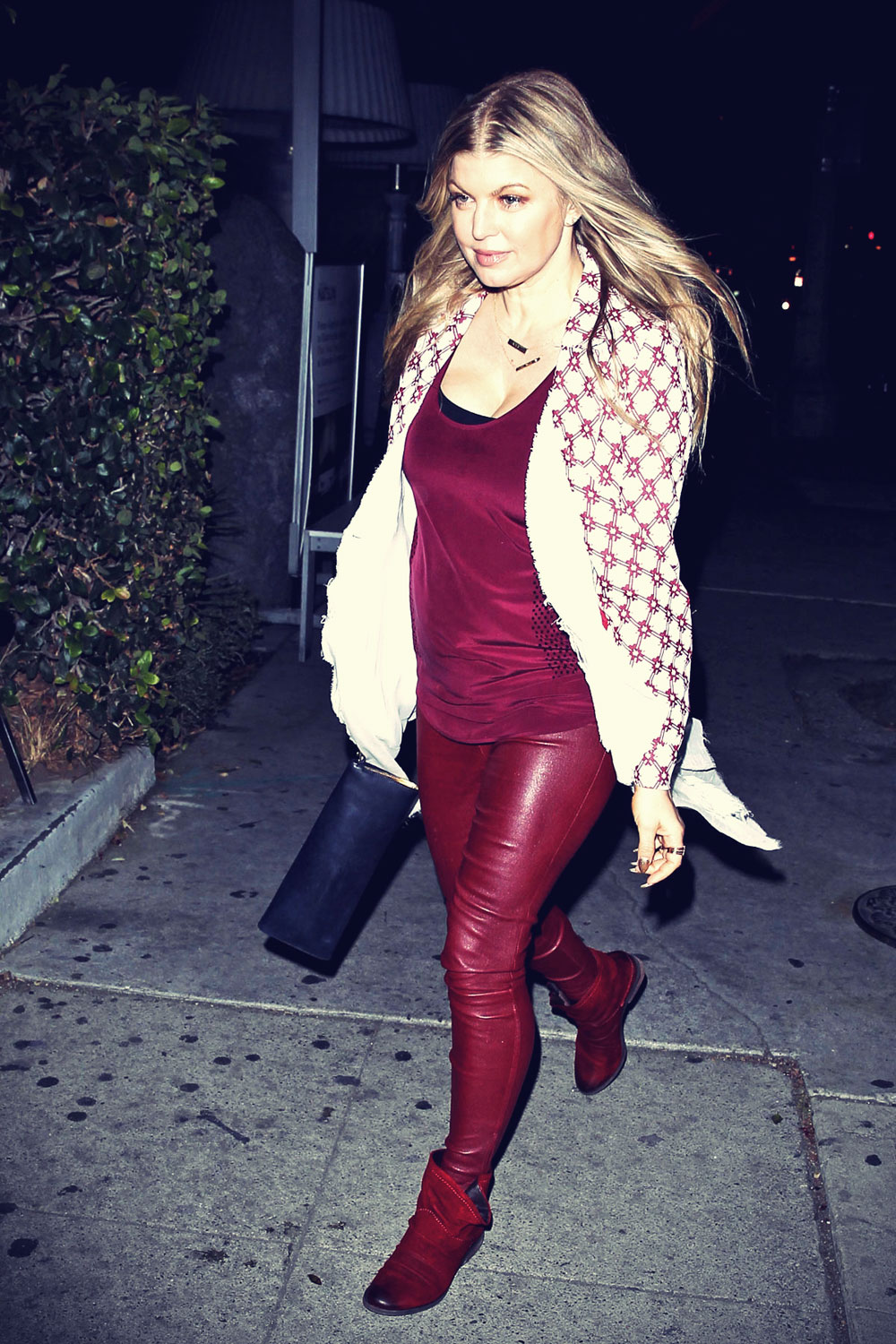 Fergie heading out for dinner at Katsuya