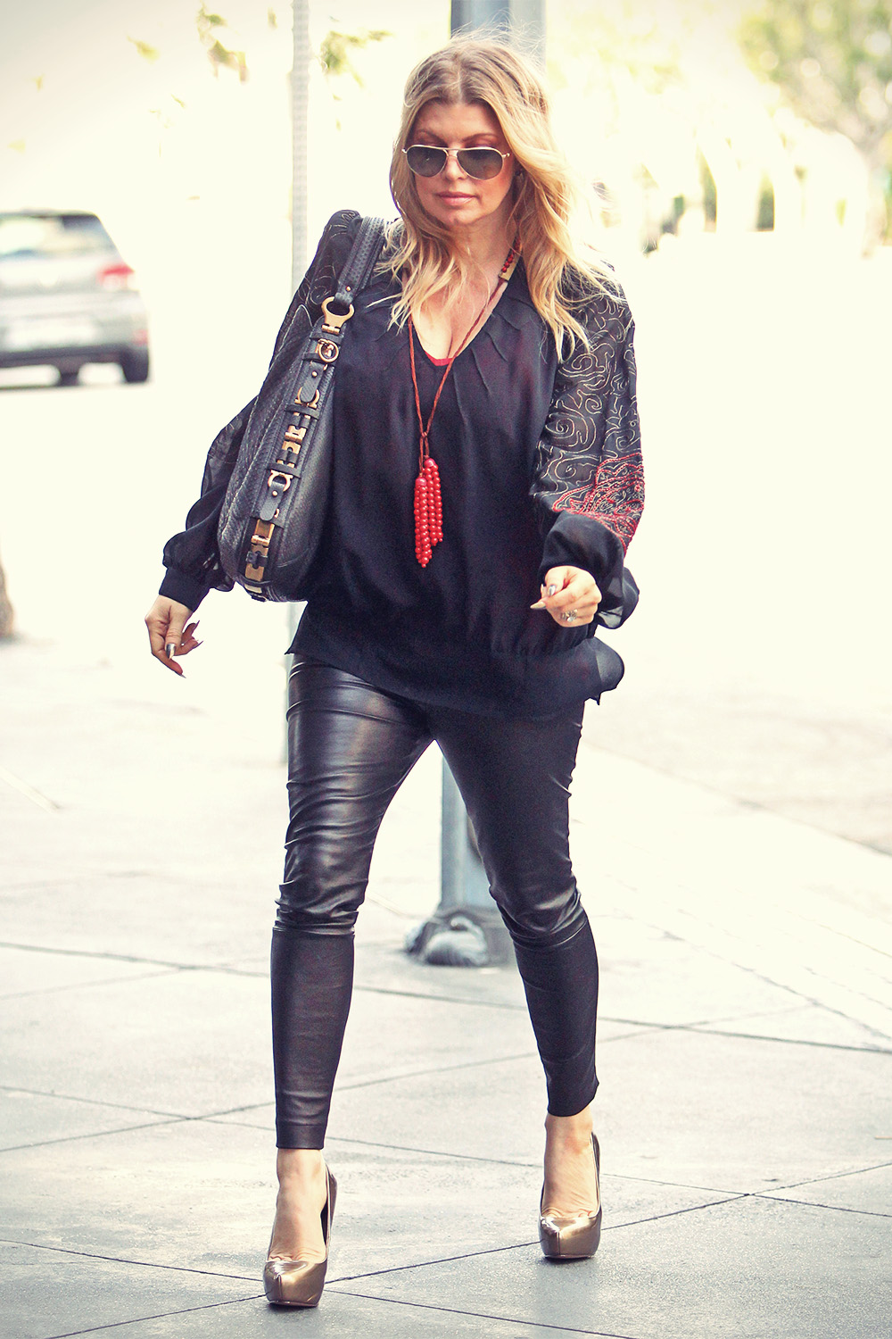 Fergie steps out for a meeting in LA