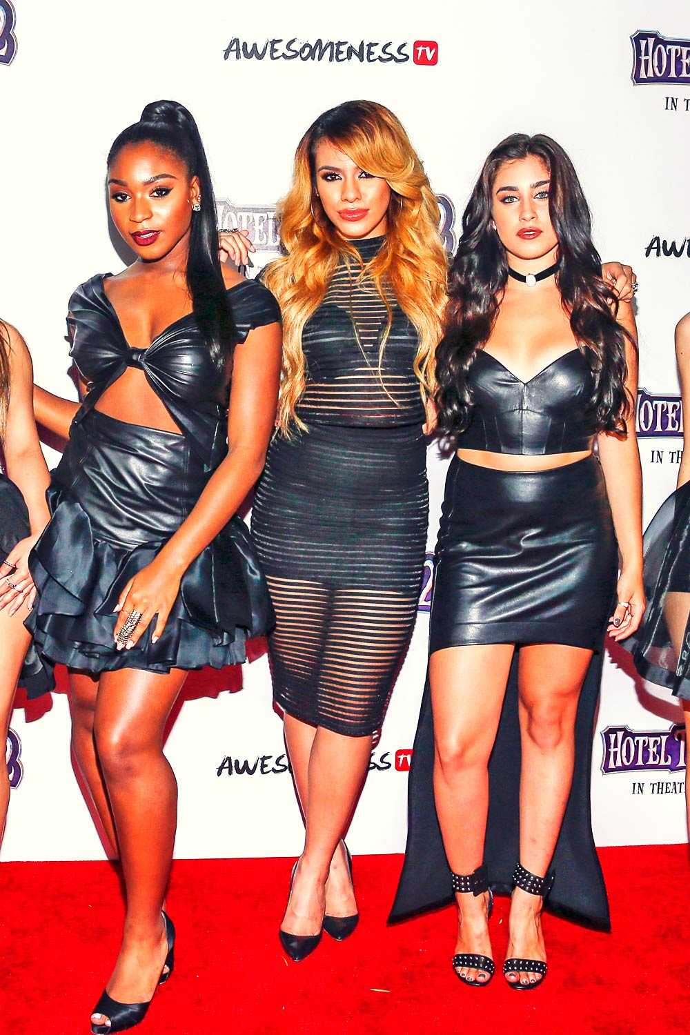 Fifth Harmony arrive at Hotel Transylvania 2 screening