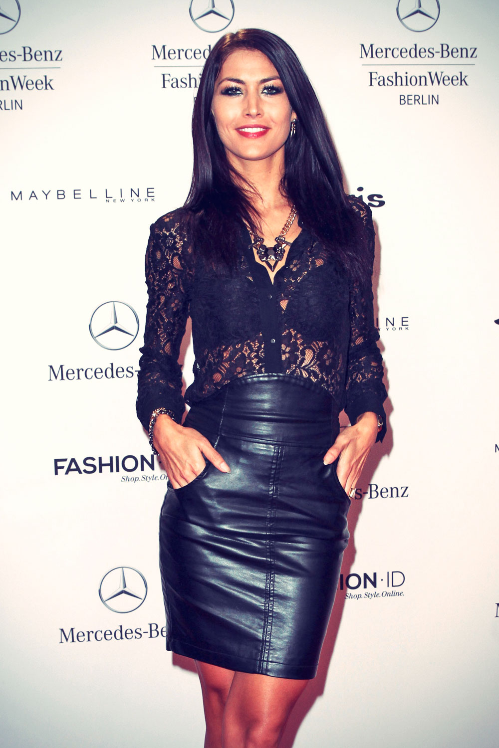Fiona Erdmann attends Mercedes-Benz Fashion Week