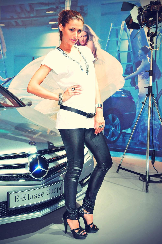 Fiona Erdmann attends Mercedes Benz Fashion Week Berlin
