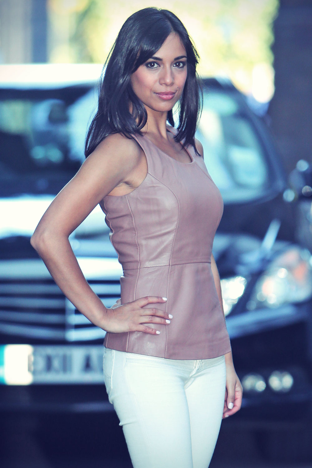 Fiona Wade seen leaving the ITV Studios