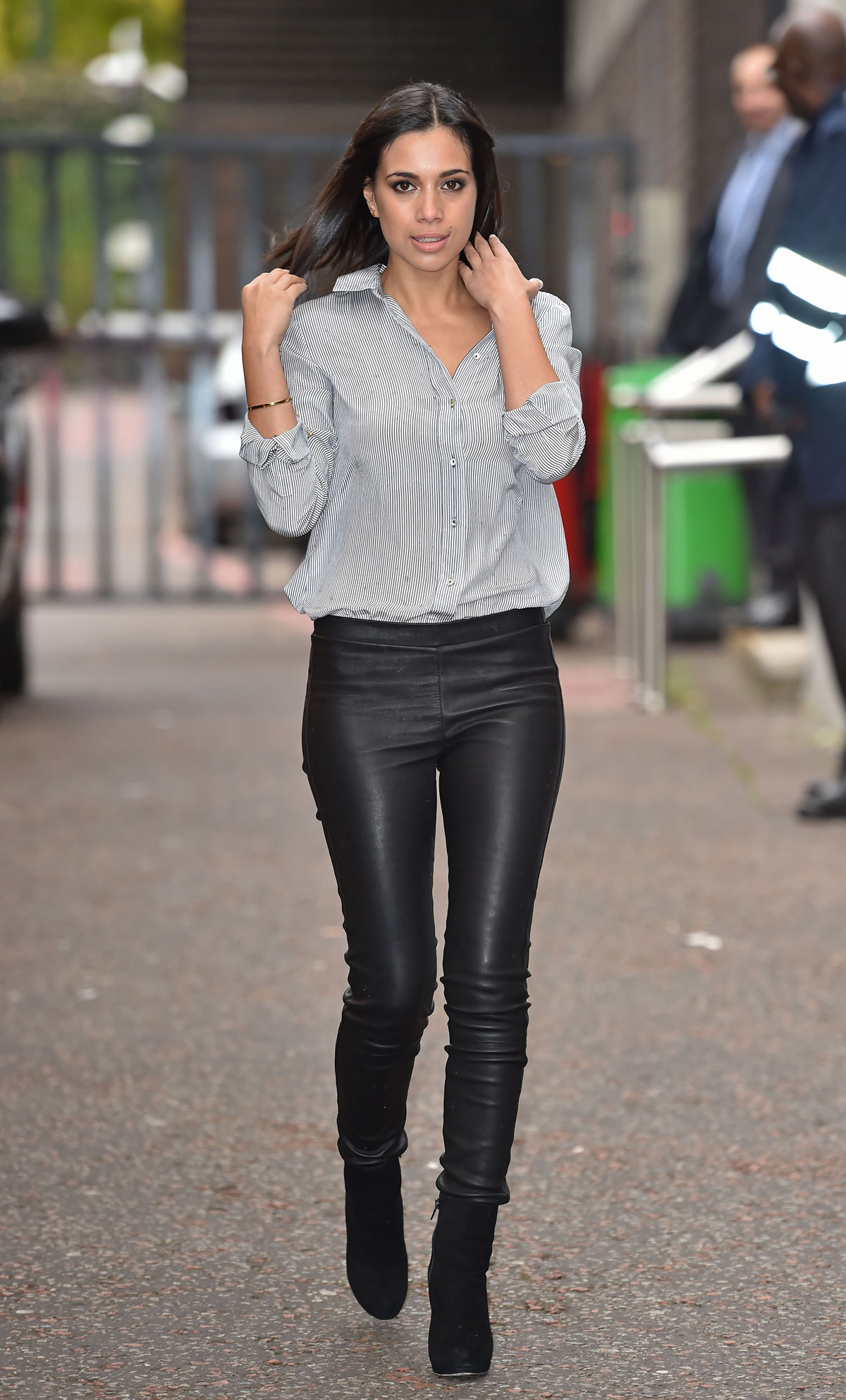 Fiona wade at itv studios leather celebrities
