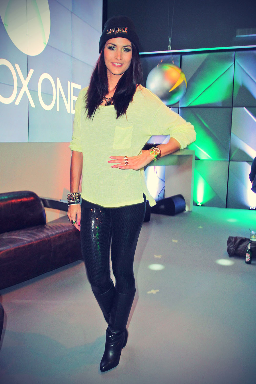 Fiona Erdmann attends the Microsoft Xbox One launch party