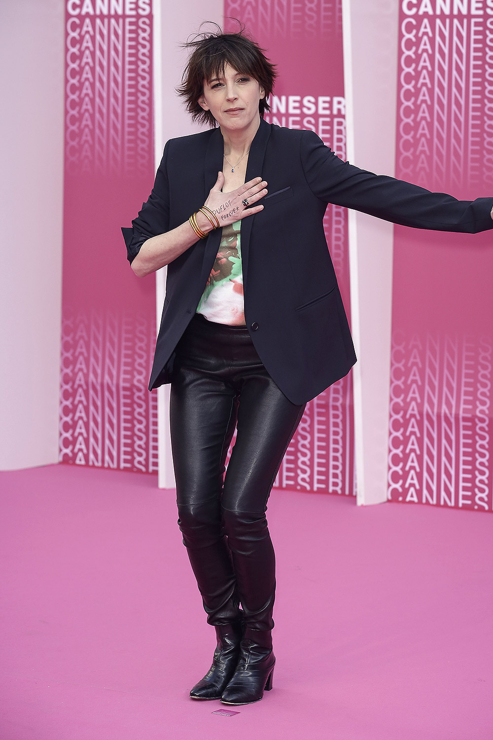 Florence Loiret Caille attends 2018 CanneSeries Opening ...