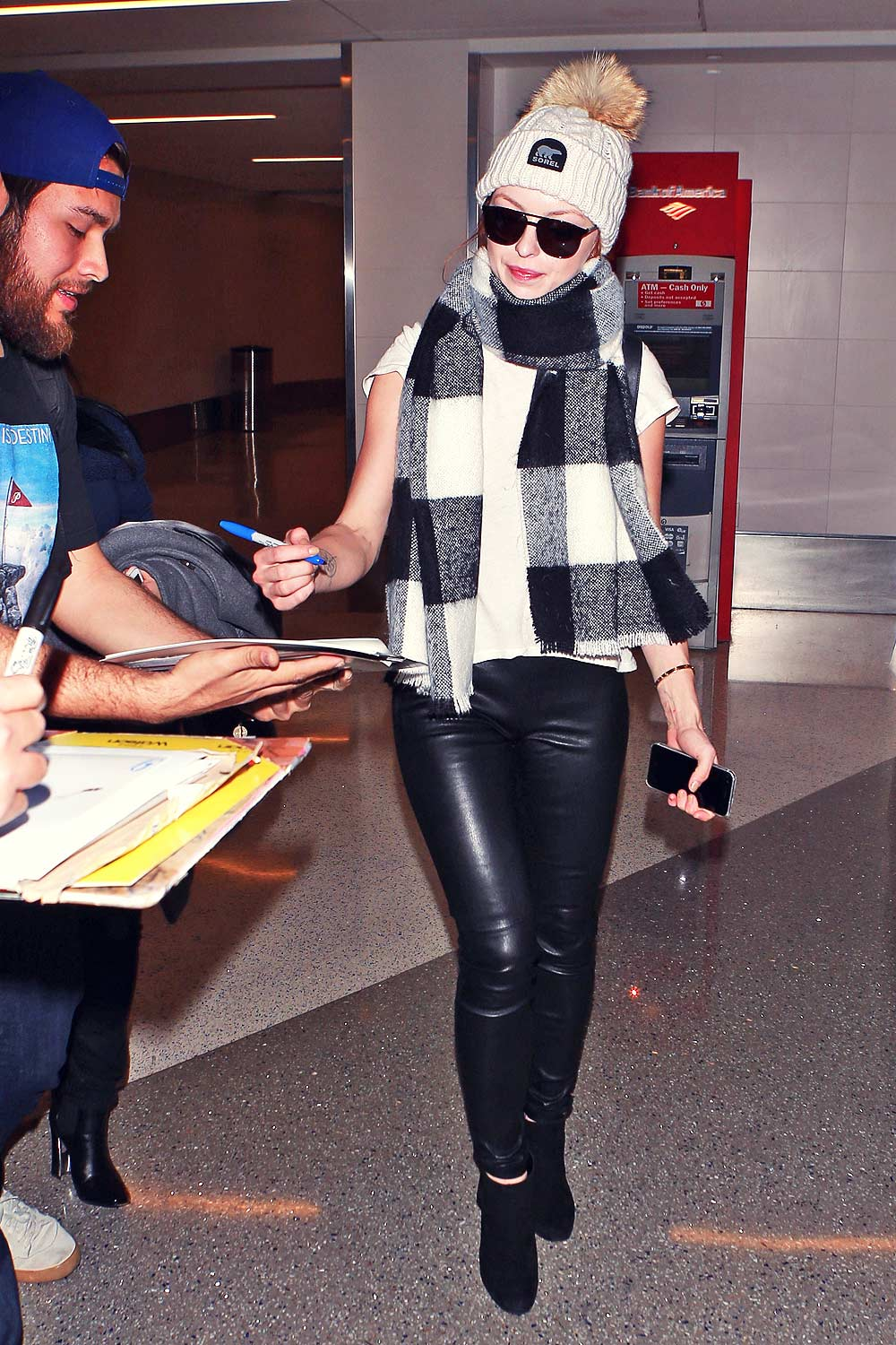 Francesca Eastwood Arriving At Lax Airport Leather