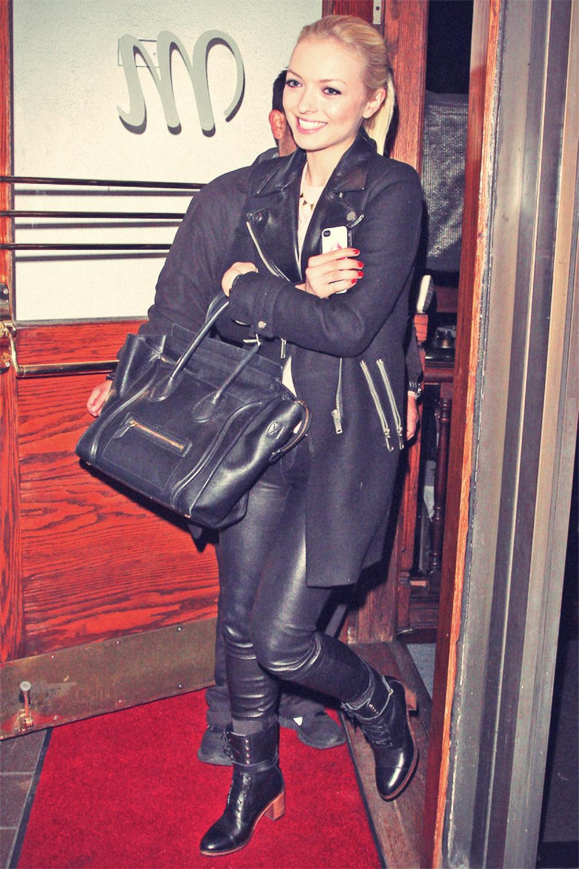 Francesca Eastwood leaving Madeaos in LA