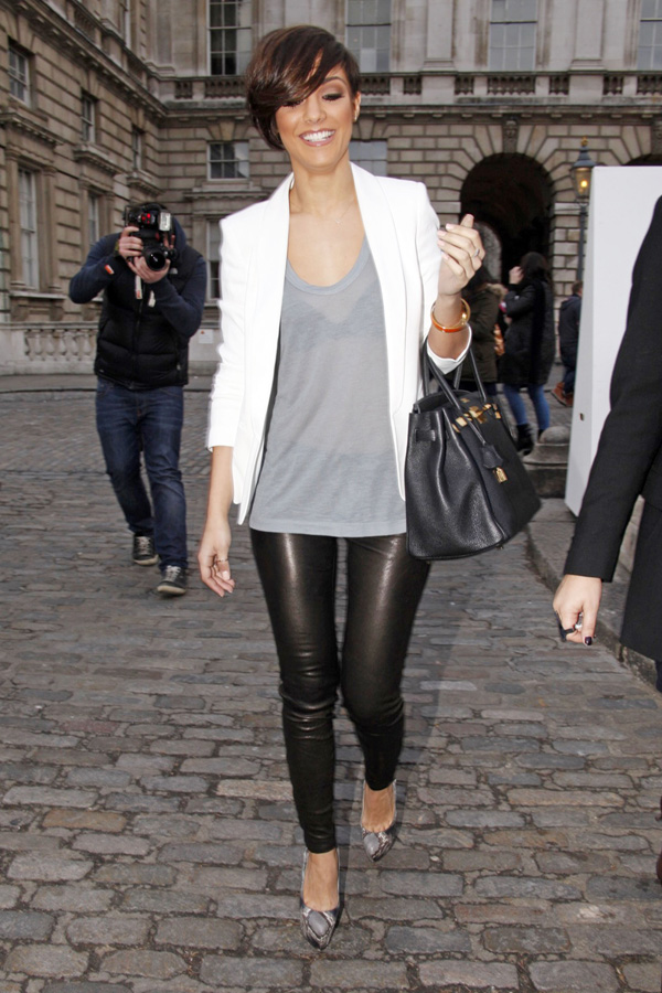 Frankie Sandford at Aminaka Wilmont show during Fashion Week AutumnWinter 2012 in London