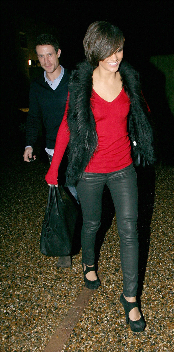 Frankie Sandford out for dinner with Wayne Bridge in Essex