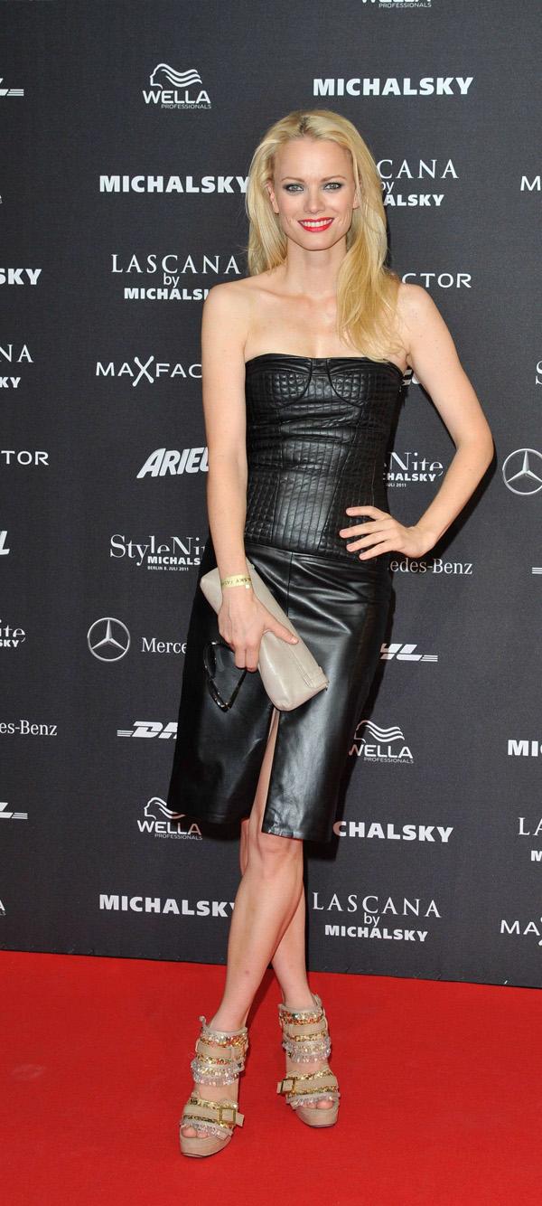Franziska Knuppe at Mercedes-Benz Fashion Week Berlin Spring/Summer 2012