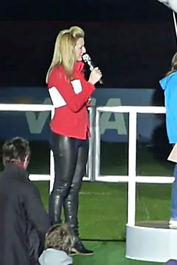 Gabby Logan at BUCS VISA Athletics Championships 2012