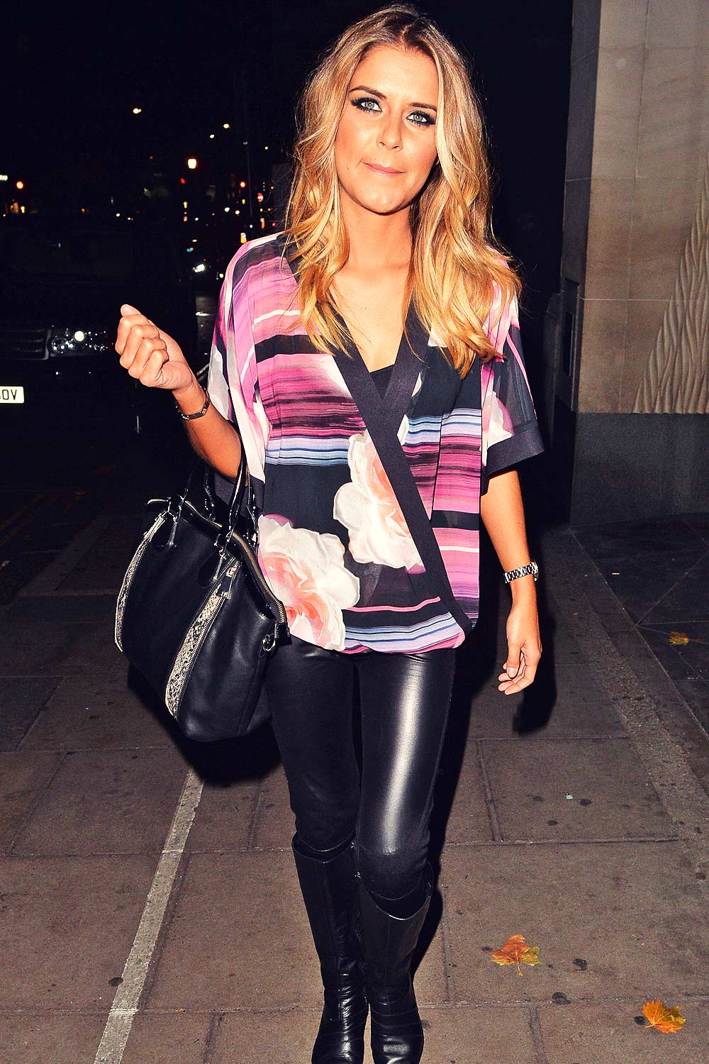 Gemma Oaten night out at Nobu in Mayfair