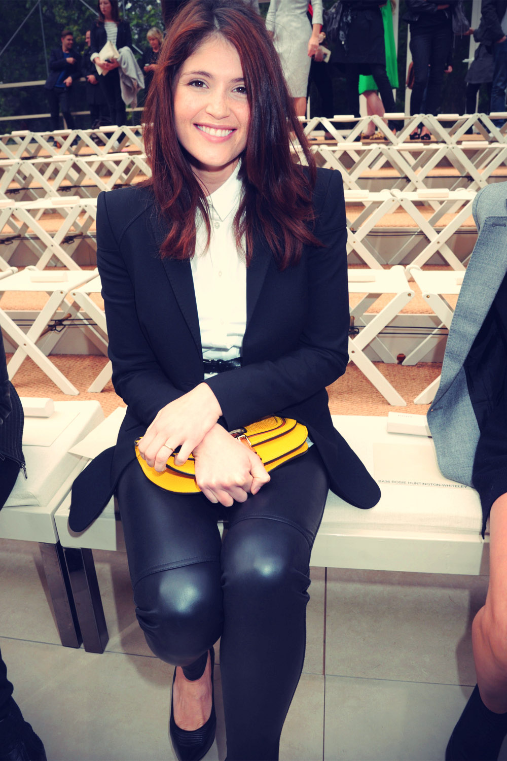 Gemma Arterton at Burberry Prorsum S/S 2012 show during London Fashion Week