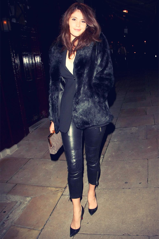 Gemma Arterton leaving the Loulou Members Club