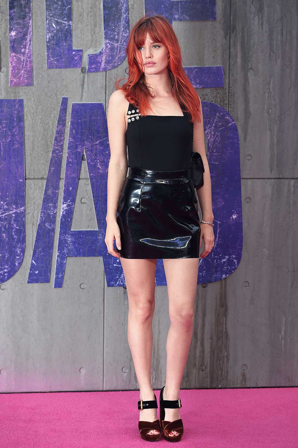 Georgia May Jagger attends the European premiere of Suicide Squad