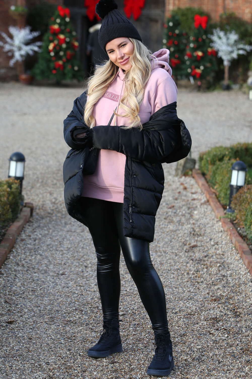Georgia Kousoulou at The Only Way is Essex Christmas Special filming