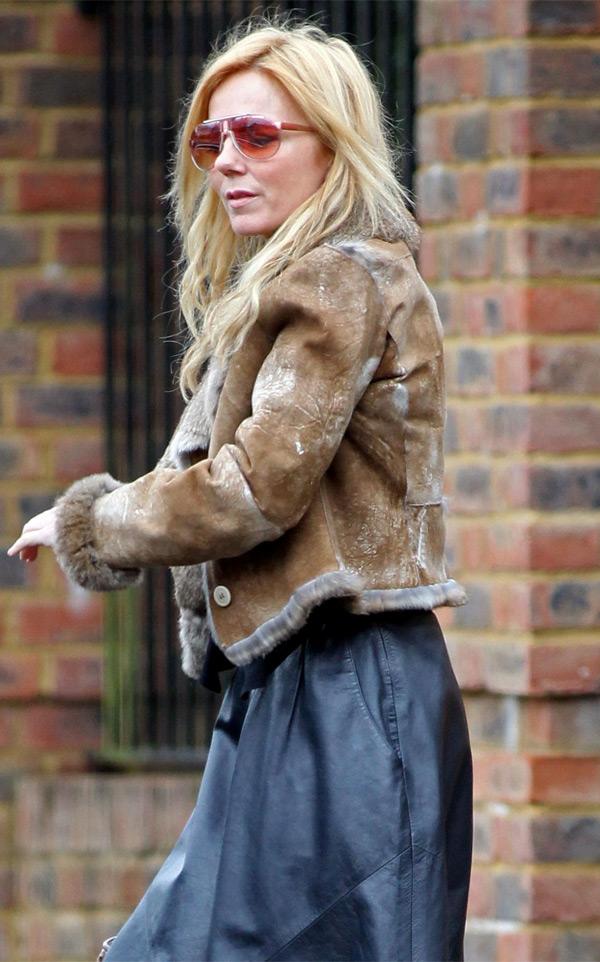 Geri Halliwell arriving in central London