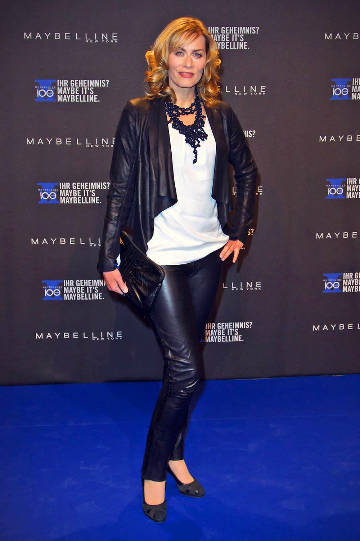 Gesine Cukrowski attends the Maybelline celebration