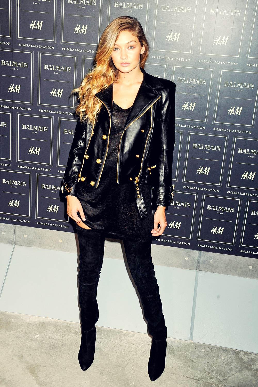 Gigi Hadid attends Balmain x H&M collection launch