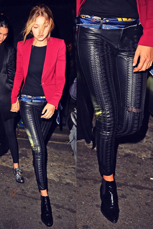 Gigi Hadid seen leaving Libertine nightclub