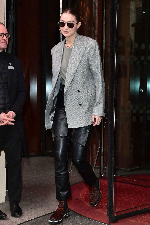 Gigi Hadid leaves Royal Monceau hotel