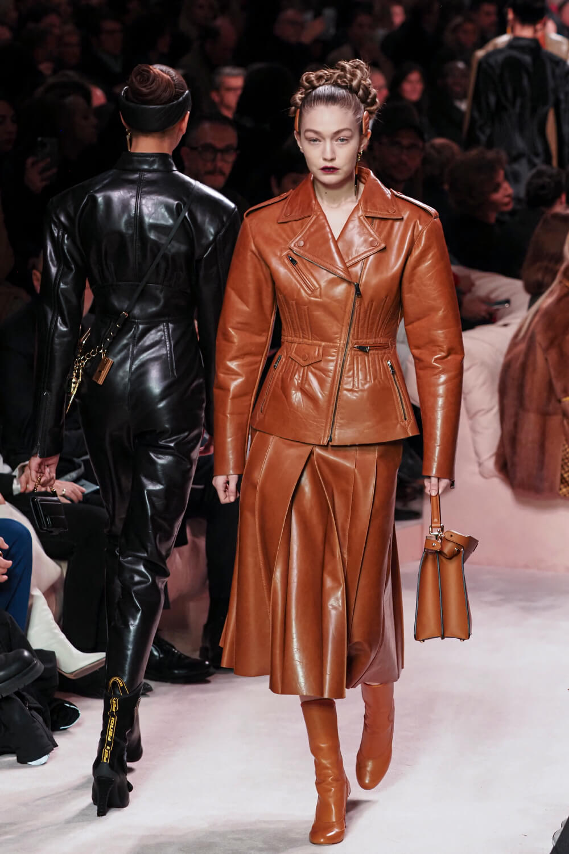Gigi Hadid walks the runway at Fendi fashion show