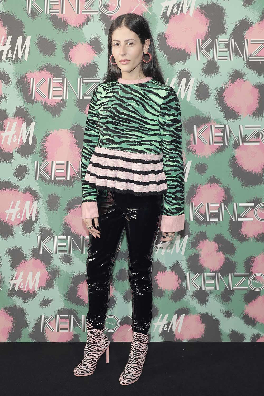 Gilda Ambrosio is seen outside the Kenzo x H&M fashion show