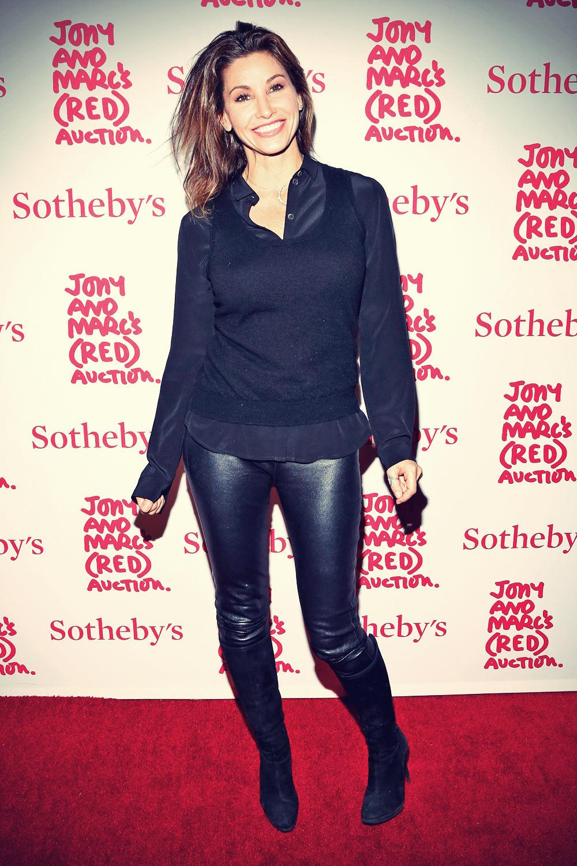 Gina Gershon 2013 Red Auction Celebrating Masterworks Of