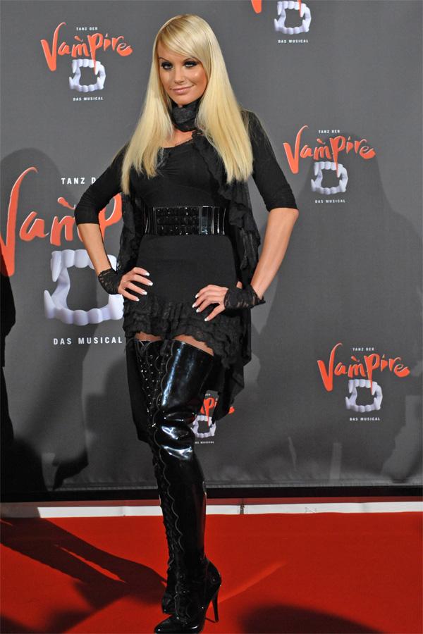 Gina Lisa Lohfink leather mix - Leather Celebrities