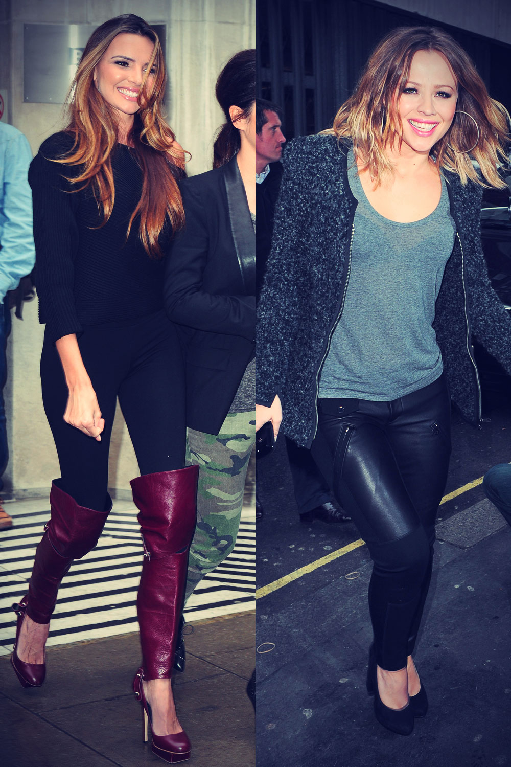 Girls Aloud at BBC Radio 1 in London