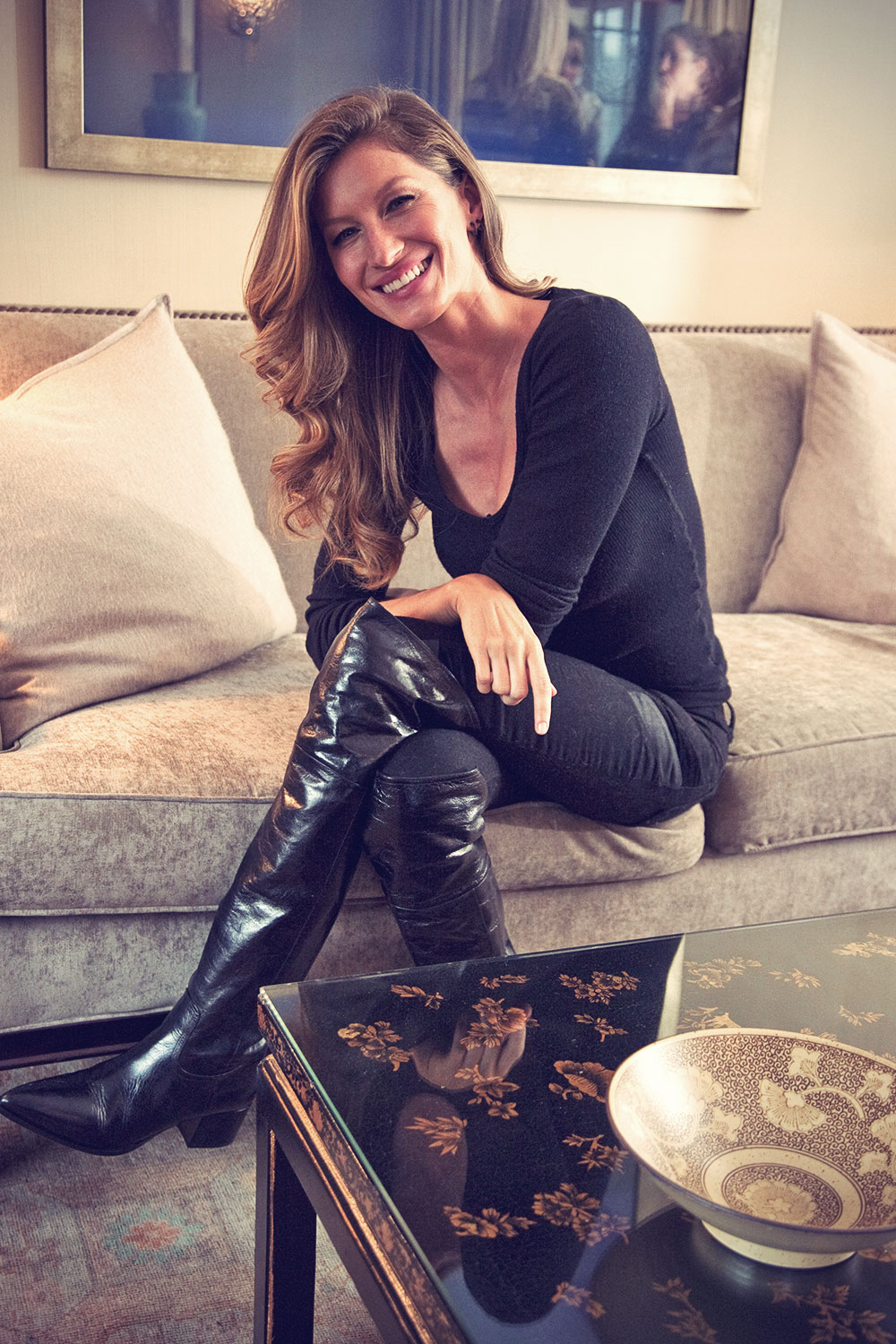 Gisele Bundchen portraits in New York