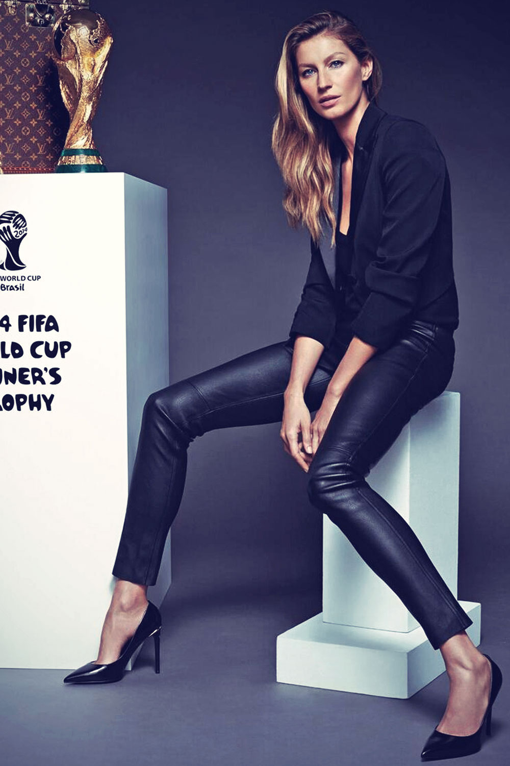 Gisele Bundchen presents Louis Vuitton FIFA World Cup 2014 case