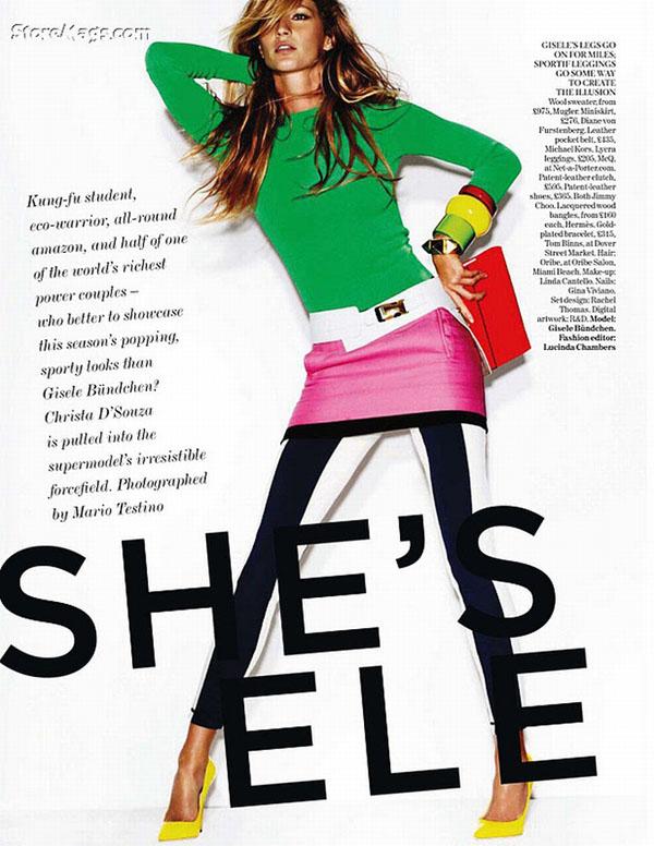 Gisele Bundchen Covers Vogue UK