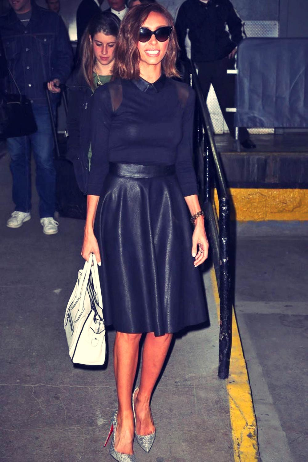 Giuliana Rancic is seen leaving an office building in New York City