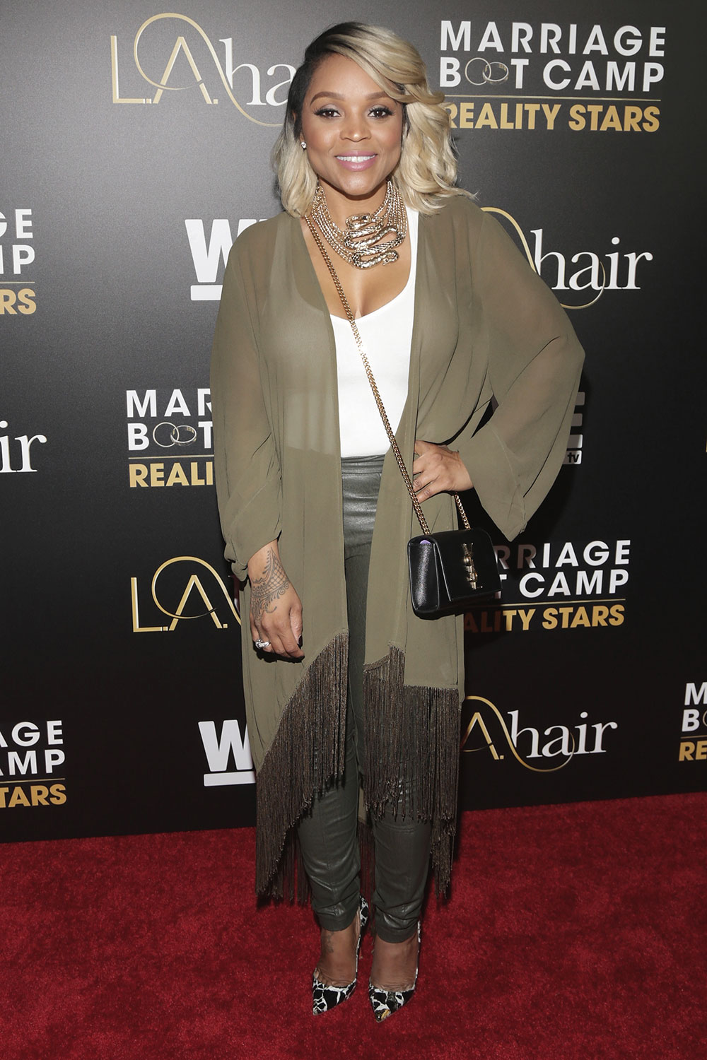 Gocha arrives for the Celebration Of WEtv's 'Marriage Boot Camp Reality Stars'